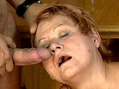 Sexy mature lady hardcore fucked on floor for cum
