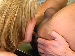 Granny licked ass and gets wild cock in hairy hole