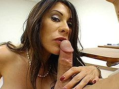 Hairy mature chick banged by..