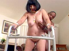 Old housewife fucked by young black guy
