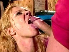 Mature whore in stockings bang by hard snake