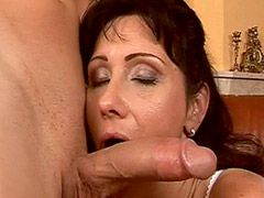 Mature fuck in doggystyle pose