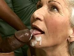 Granny suck african 24 inch big cock and hard fucked