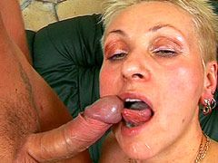 Tattoo body mature chick gets fucked and cum
