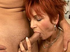 Granny in black stockings wild fuck