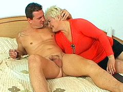 Big boobs blonde mature love to feel big cock