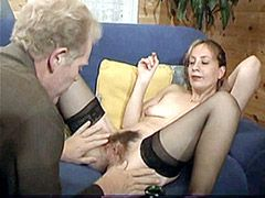 Old mom with hairy hole fucked by husband