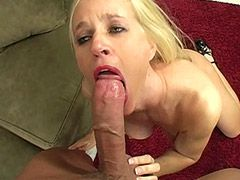 Blonde mature chick playing and banging 14 inch cock