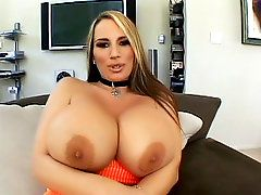 Blonde MILF Flashes Her Big TitsI see youve got your eyes..