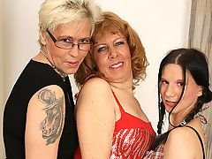Three old and young lesbians..