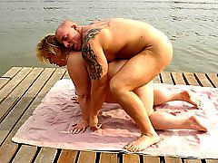 Blonde Mature Fatty Takes a CockWe love the outdoors as..