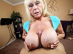 Shelly the Burbank Bomber fro over 40 handjobs Perverted Granny catches Jimmy staring at her..