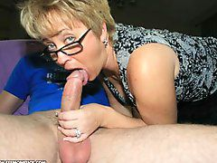 Mom Sucks Off BillyWhile her hubby is away, hot wife Tracy..