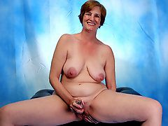 Ray Lynn mature dildo soloHorny housewife starts to..