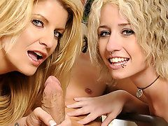 MILF wants her lesbian daughter to enjoys a real big cock!